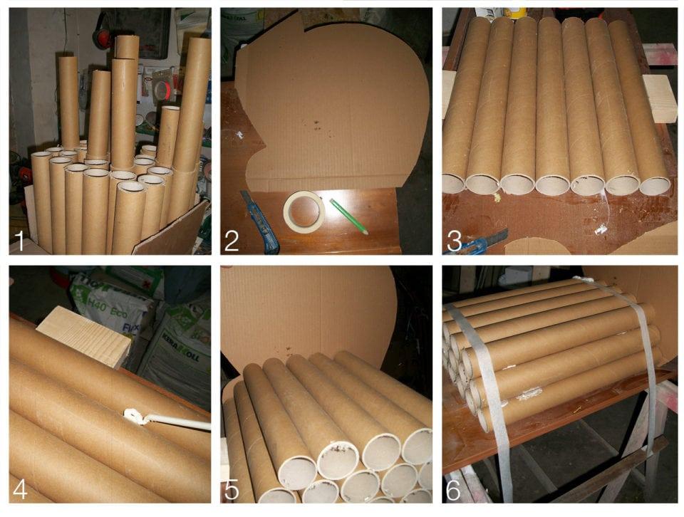 I molteplici ricicli realizzati da semplici tubi di cartone