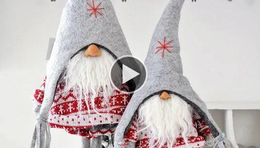 Lavoretti Di Natale Da Regalare Fai Da Te.Ecco Come Realizzare Dei Magici Folletti Di Babbo Natale Da