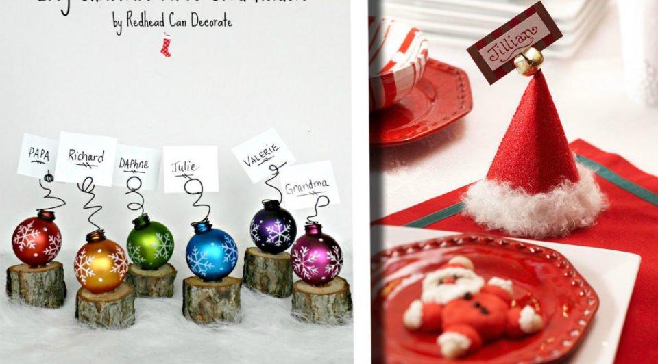 Segnaposto Natalizi Eleganti Fai Da Te.Segnaposto Originali Per Il Natale 30 Idee Geniali Fai Da Te