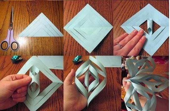 Fiocchi Di Neve Di Carta Facili : Ecco come realizzare i fiocchi di neve di carta tanti schemi e