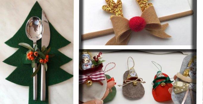 Idee Creative Natale 2016 : Pannolenci e feltro a natale. ecco 20 idee senza cuciture