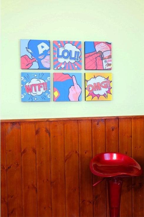Decorare la vostra stanza con questi quadri pop art for Decorare la stanza