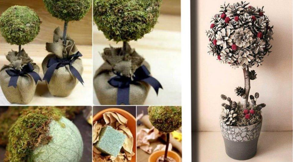 20 idee con tutorial su come fare degli alberelli natalizi da regalare!