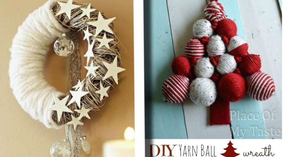 25 idee natalizie con tutorial da realizzare con la lana