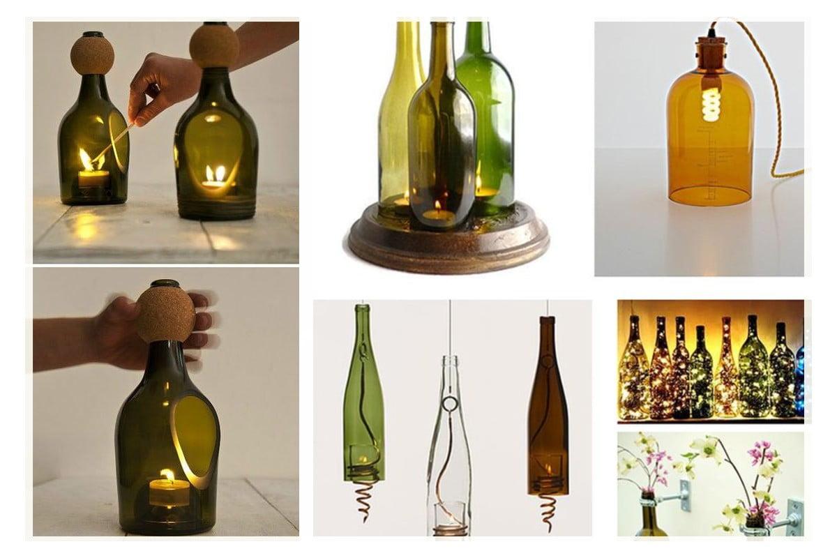 Riciclo Bottiglie Di Vetro Paralumi E Lanterne 20 Idee