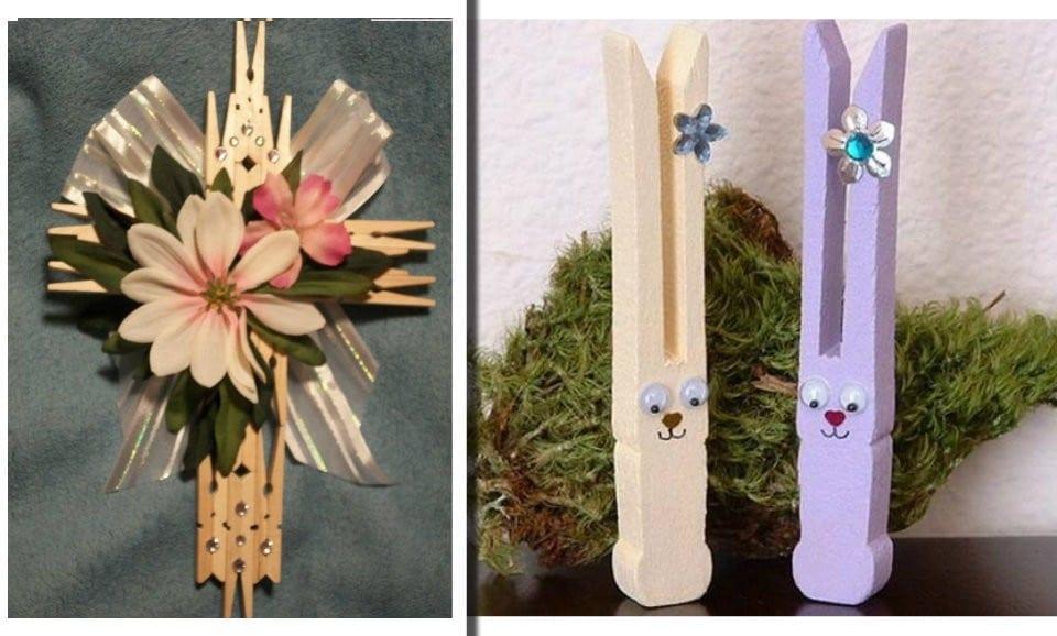 Lavoretti Con Mollette Di Legno Per Natale.Riciclo Mollette Di Legno 15 Idee Per La Pasqua Molto Originali