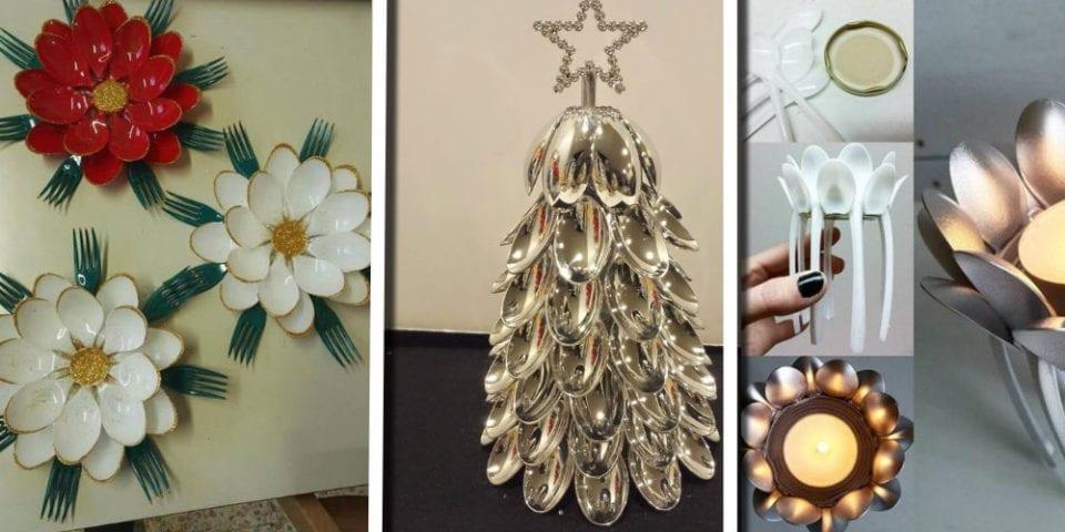 Cucchiai di plastica: 25 idee di sorprendenti decorazioni riciclose