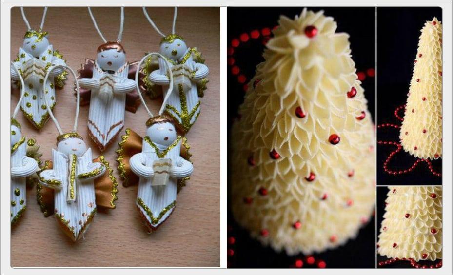 Lavoretti Di Natale Con Pasta Cruda.Ecco 26 Decorazioni Natalizie Adorabili Utilizzando