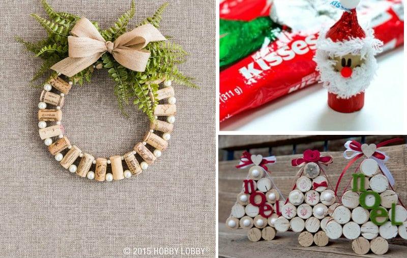 Lavoretti Di Natale Tappi Sughero.20 Idee Per Realizzare L Albero Di Natale E Decorazioni Riciclando I