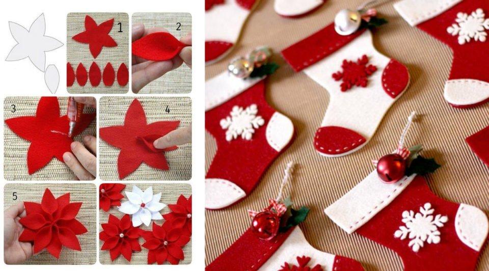 Natale quest'anno lo voglio di feltro. 36 decorazioni con cartamodello!