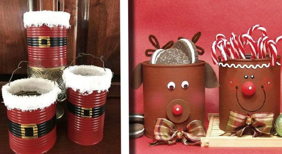 Decorazioni Natale Con Barattoli Di Latta 20 Idee Di