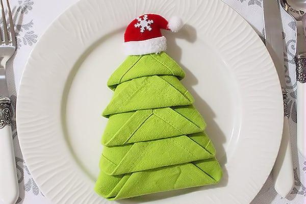 Piegare Tovaglioli Di Stoffa.Piegare I Tovaglioli Albero Di Natale Decorazioni