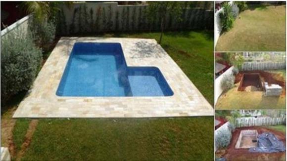 Ecco come costruire una piscina nel giardino di casa for Costruire piscina fai da te