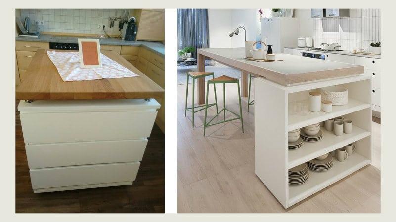25 idee su come creare una penisola in cucina con mobili for Idee arredamento ikea