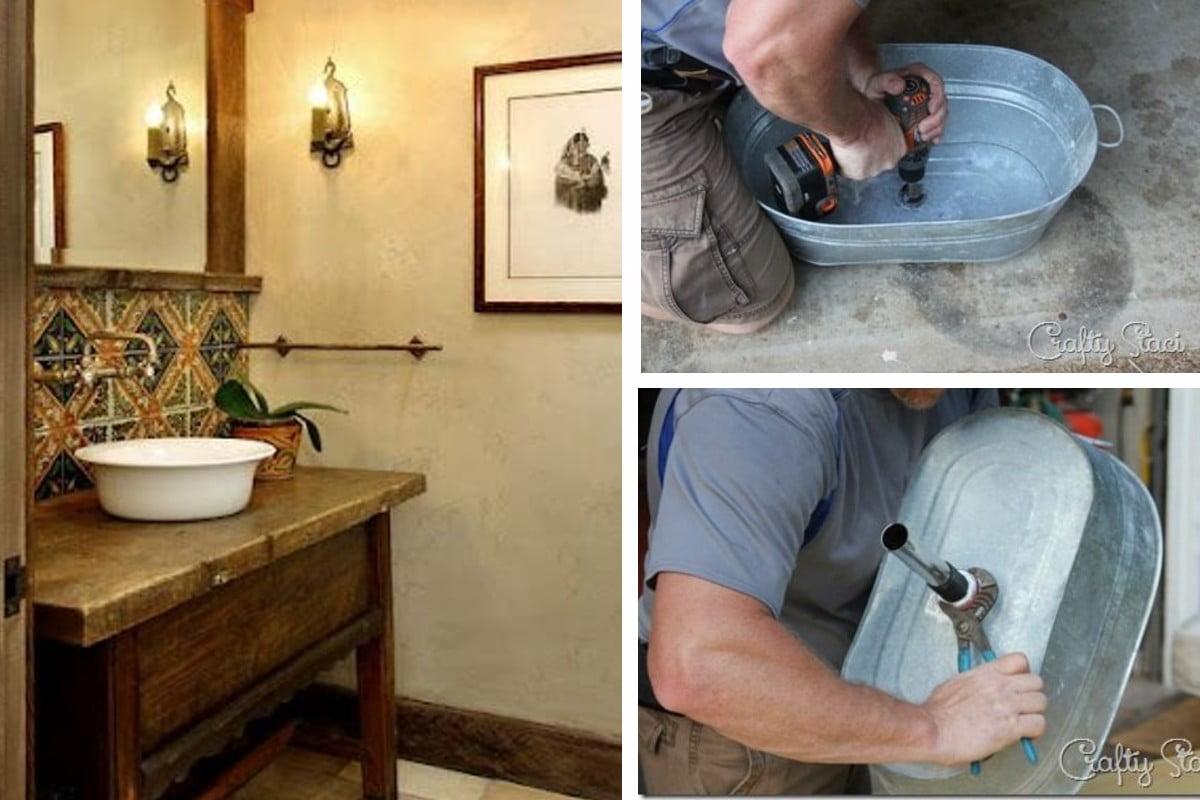 23 idee per creare lavabi lavabo fai da te
