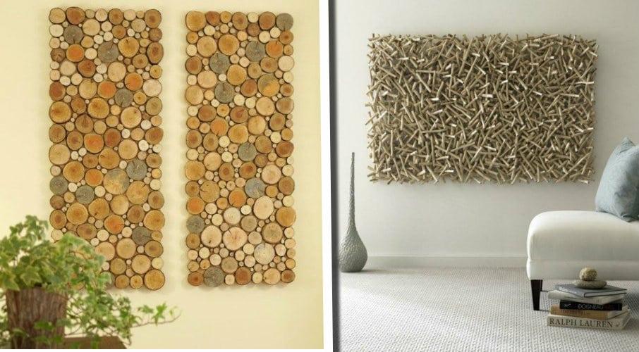 20 idee creative di decorazioni da parete in legno fai da te semplici eleganti e originali - Decorazioni da parete in legno ...