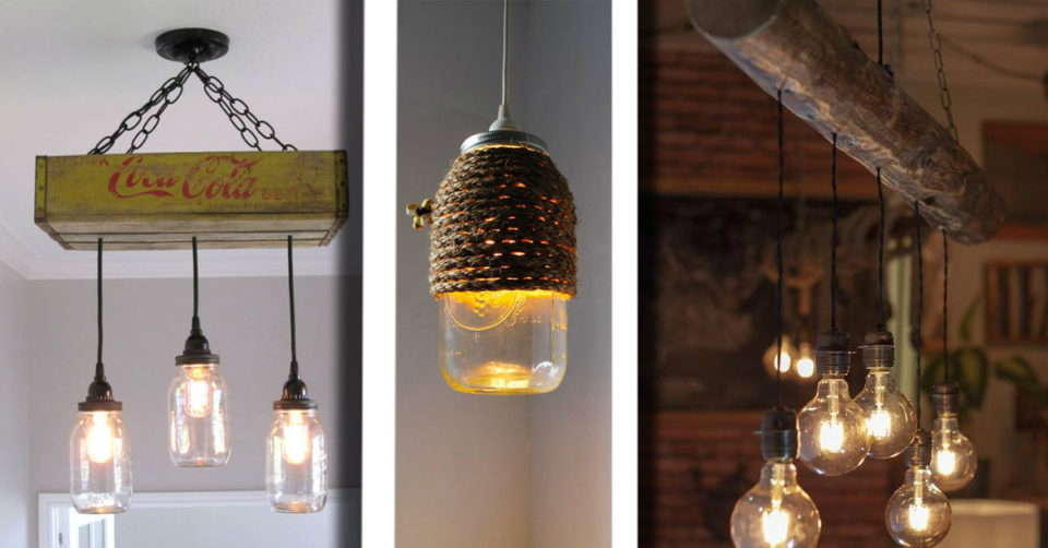 Idee Per Il Fai Da Te Legno : Ecco idee per realizzare in modo semplice un lampadario in