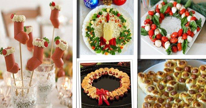 Antipasti Natalizi A Forma Di Albero Di Natale.30 Idee Su Come Realizzare Deliziosi Aperitivi E Antipasti Natalizi