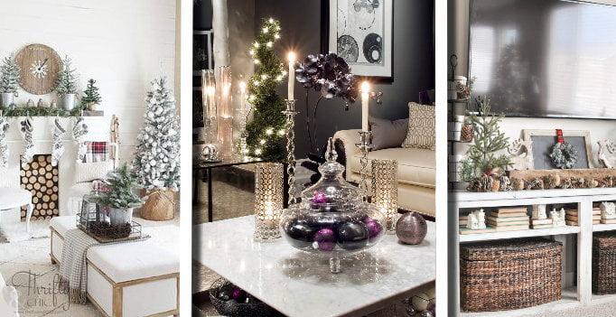 20 Magnifiche Idee Su Come Decorare Il Soggiorno A Natale Dallo Stile Rustico Al Moderno