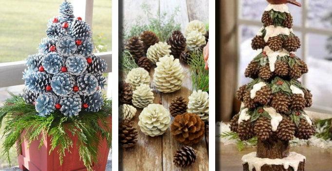 Decorazioni Natalizie Con Le Pigne.20 Esempi Su Come Realizzare Un Alberello Di Natale Con Le Pigne