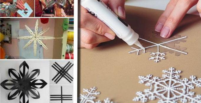 Fiocchi di natale fai da te: 20 idee per realizzare con il riciclo creativo dei fantastici fiocchi di neve!