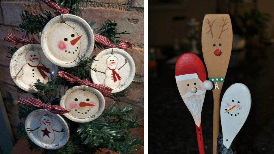 20 decori natalizi realizzati usando tutto quello che di solito abbiamo in casa