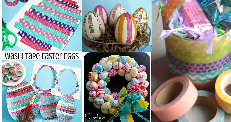 Popolare Lavoretti per la Pasqua con il washi tape: 20 idee allegre per AU75