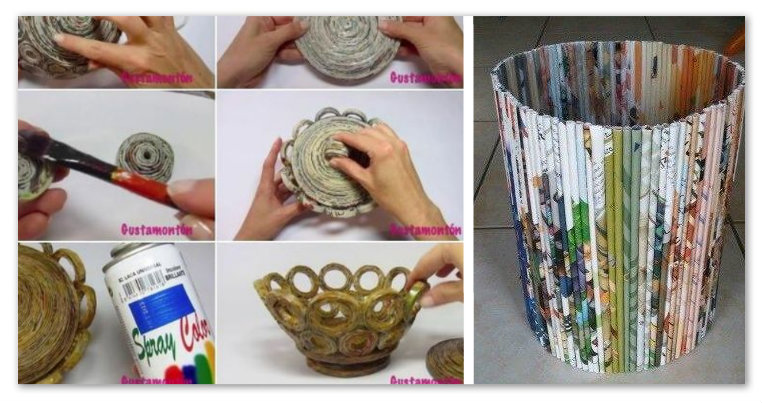 brillantezza del colore saldi nuove varietà Cannucce di carta: 25 idee riciclando giornali e riviste per ...