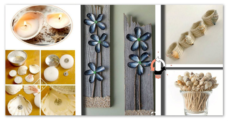 Conchiglie di mare: 20+1 idee fai da te per decorare casa