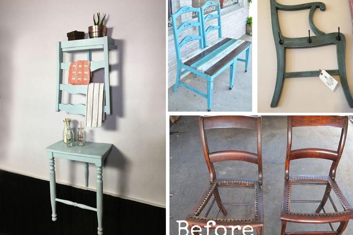 25 modi creativi per riutilizzare riciclo vecchie sedie