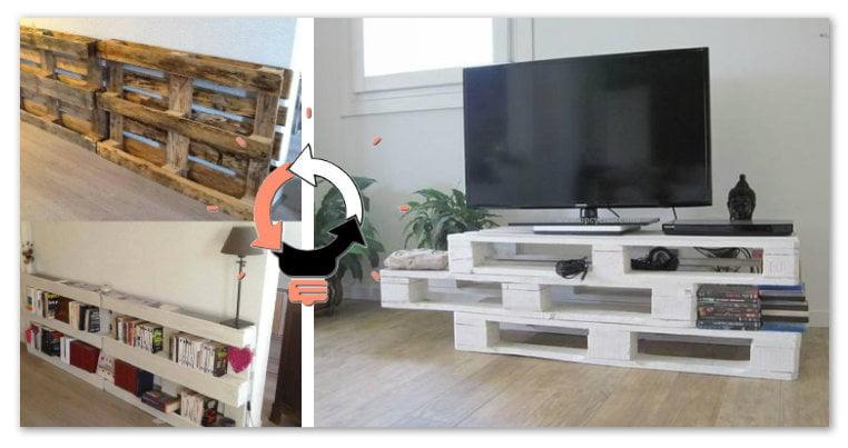 Idee Per Mobili Porta Tv.Riciclo Bancali 23 Idee Su Come Arredare Casa A Bassissimo Costo