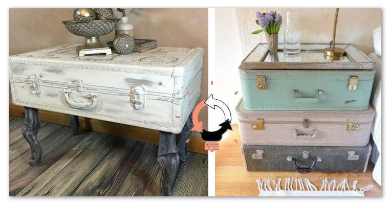 Riciclo vecchie valigie: 20 idee per arredare con il riciclo creativo