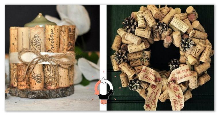 stile romanzo elegante carino e colorato Riciclo tappi di vino : 20 idee strepitose sul riciclo dei ...