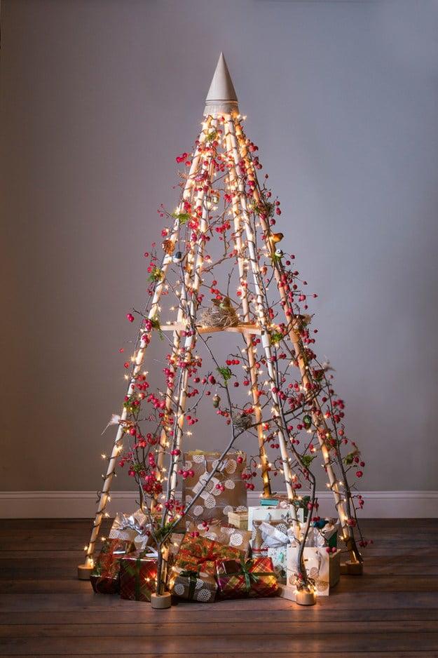 Alberi Di Natale Alternativi Fai Da Te.Albero Di Natale Alternativo 30 Idee A Cui Ispirarsi