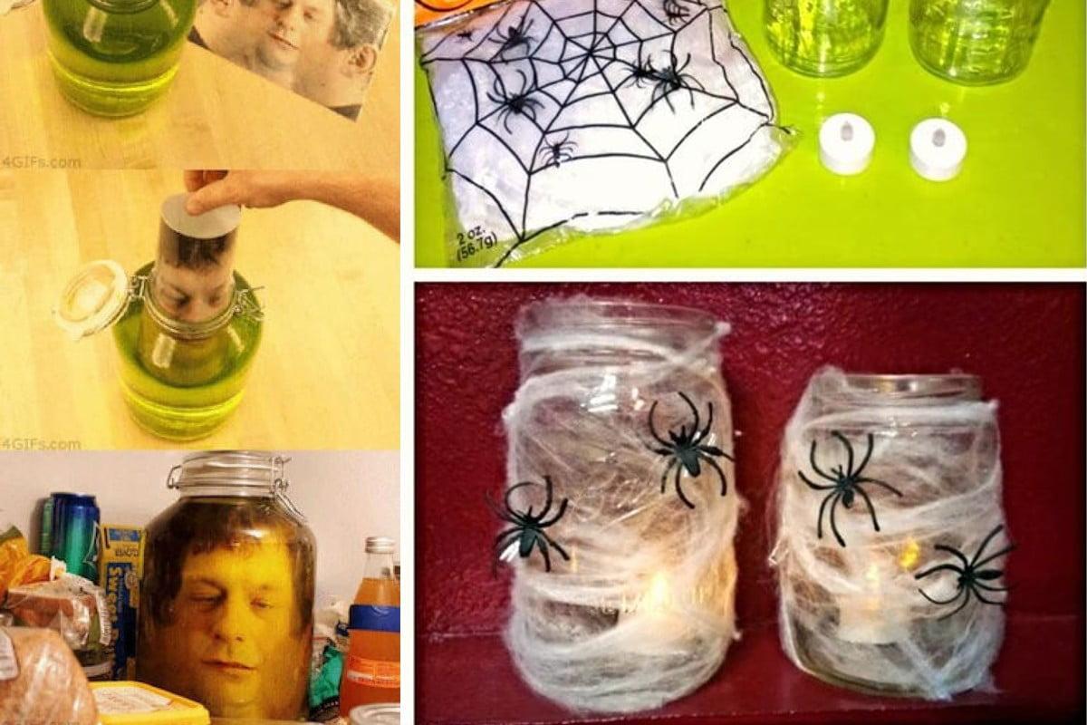 34 idee per riciclare barattoli riciclo barattoli halloween
