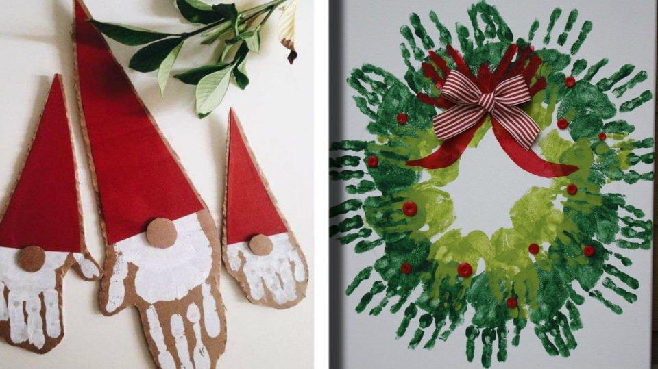 Come Fare I Lavoretti Di Natale.Lavoretti Di Natale 23 Idee Di Decorazioni Con Le Manine