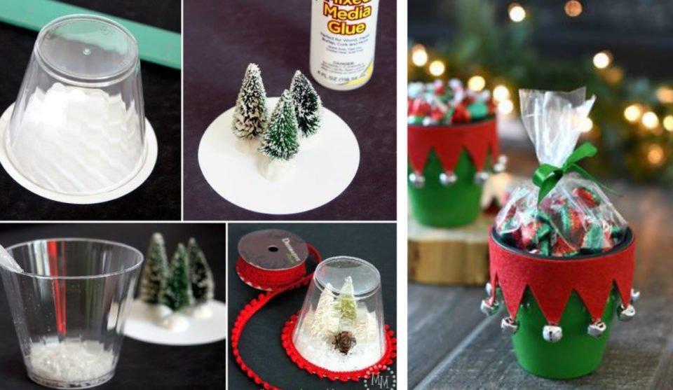 Bicchieri Con Decorazioni Natalizie.Lavoretti Di Natale Tantissime Idee E Tutorial Con Il Riciclo Dei Bicchieri Di Plastica