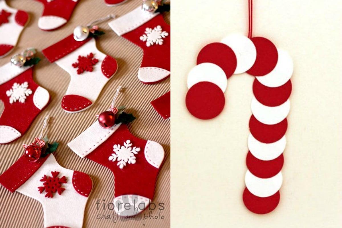 Decorazioni Natale: 20 idee di portaposate e fuori porta con feltro senza cuciture!