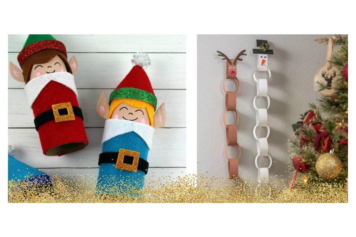 Lavoretti Di Natale Con Babbo Natale.Lavoretti Natalizi Per Bambini 30 Idee Riciclando Rotoli Di Carta Igienica