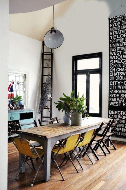 Sala Da Pranzo Industrial Chic Per Uno Stile Elegante E Alternativo