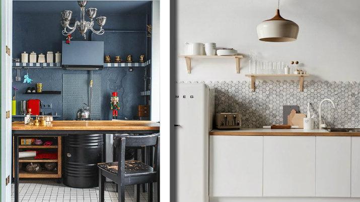 Come strutturare una cucina piccola senza mobili pensili ...