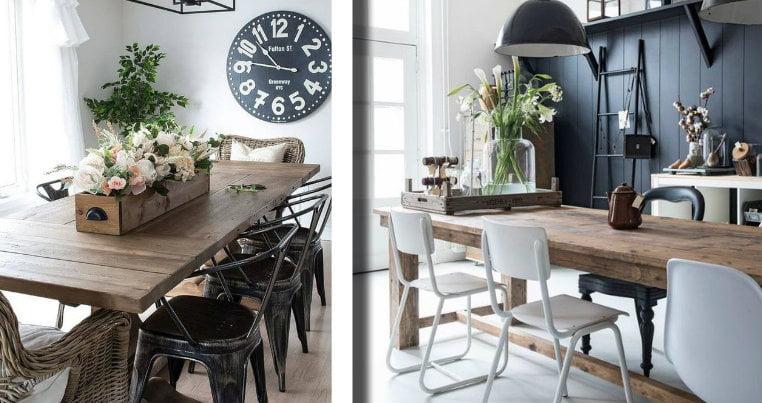 Sala da pranzo industrial chic: per uno stile elegante e ...