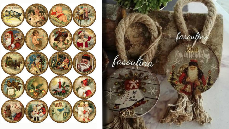 Cartoline Di Natale Vintage Da Stampare.Decorazioni Natalizie Fai Da Te 57 Immagini Di Vecchie
