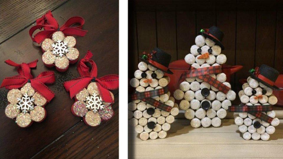 Decorazioni Natalizie Con I Tappi Di Sughero.Tappi Di Sughero 35 Idee Per Decorazioni Di Natale D Incanto