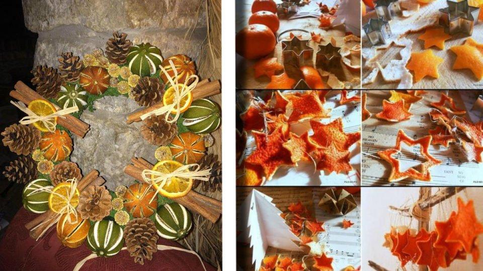 Arance Decorazioni Natalizie.30 Decorazioni Fai Da Te Con Le Bucce Di Arance E Mandarini