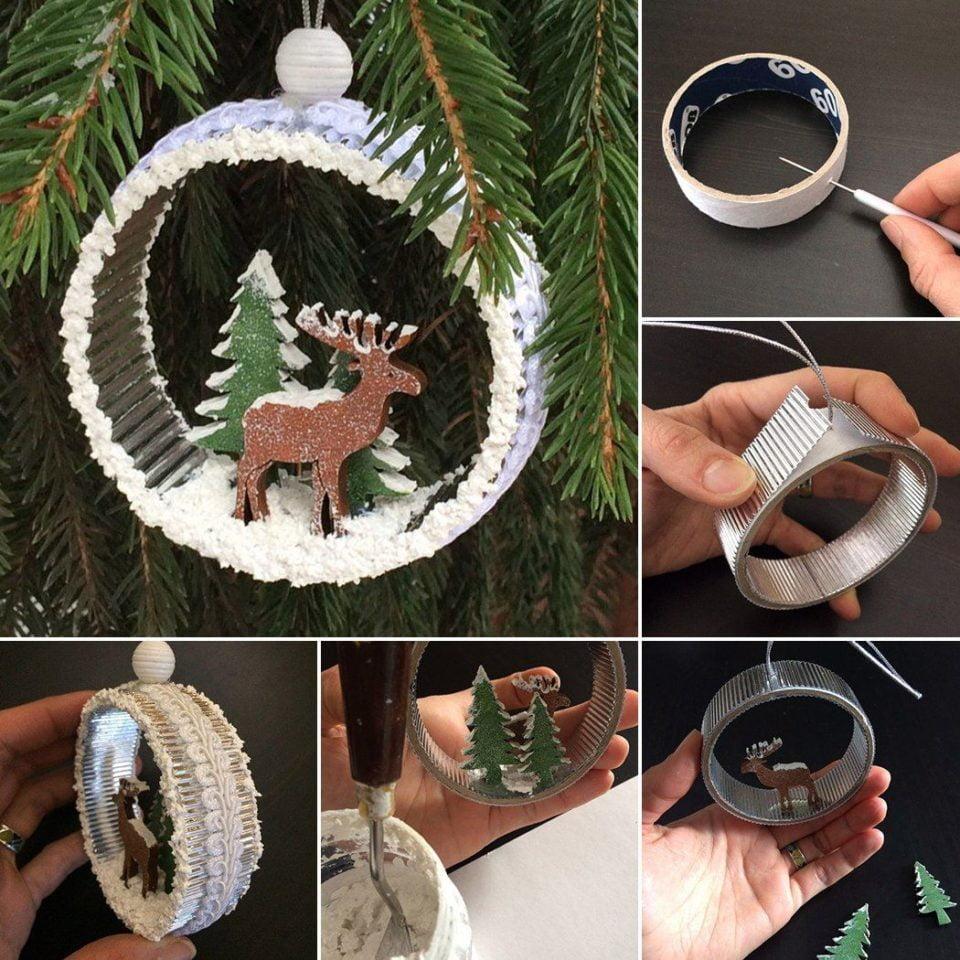 Idee Di Riciclo Per Natale addobbi natalizi in stile shabby chic: 20 idee di riciclo