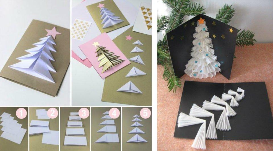 Albero Della Vita Biglietto di Auguri con Origami Surprise