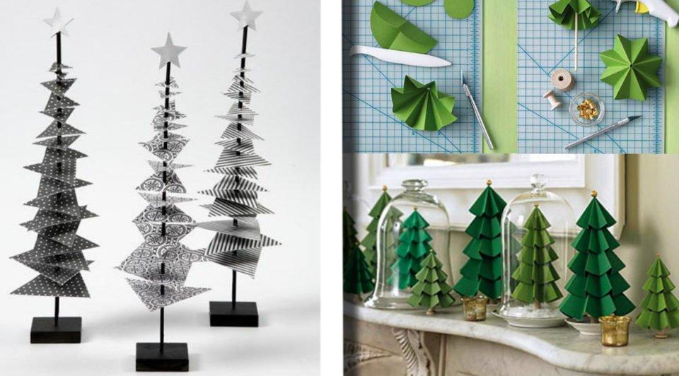 Alberi di Natale riciclando carta, degni di un vero designer!