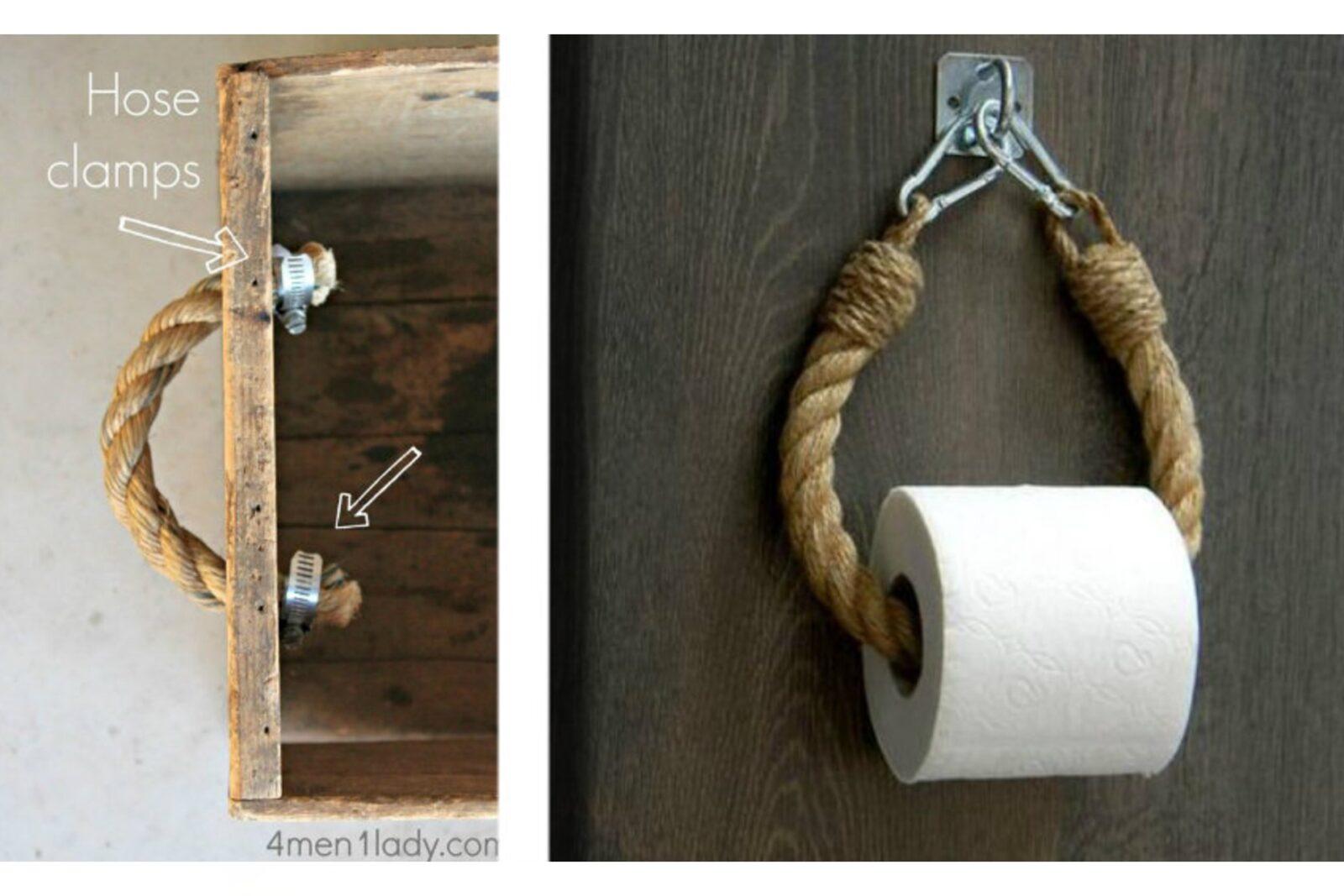 Porta Carta Igienica Originali complementi d'arredo fai da te: progetti con la corda a