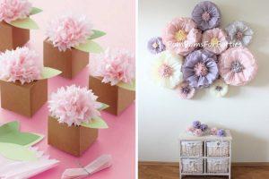 addobbi fai da te con fiori di carta